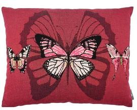 Наволочка красные бабочки