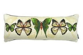 Декоративная наволочка зеленые бабочки