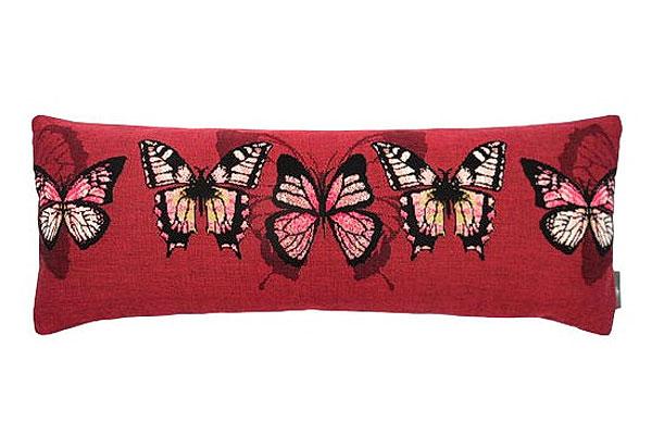 Декоративная наволочка красные бабочки