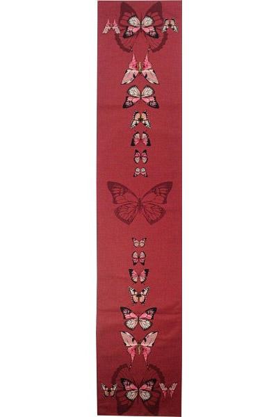 Дорожка красные бабочки