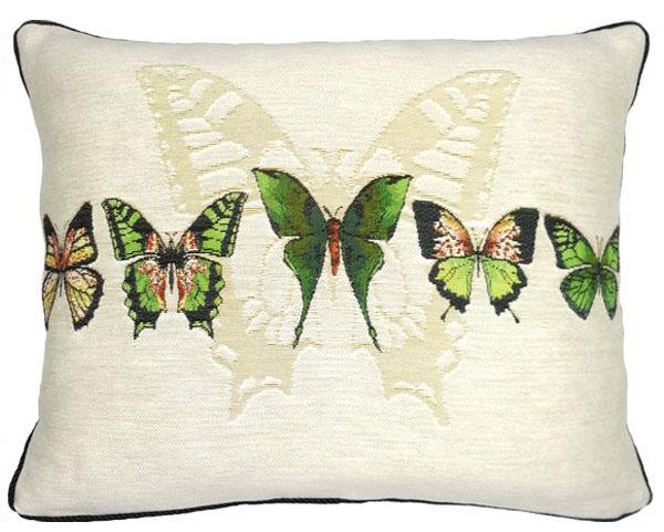 Наволочка зеленые бабочки