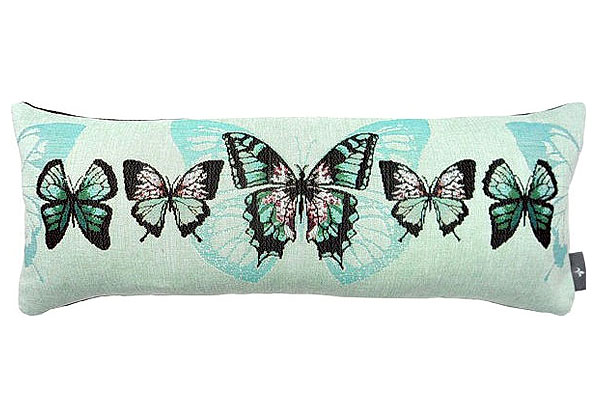 Декоративная наволочка голубые бабочки